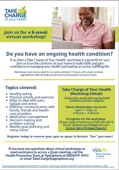 Take Charge of your health workshops