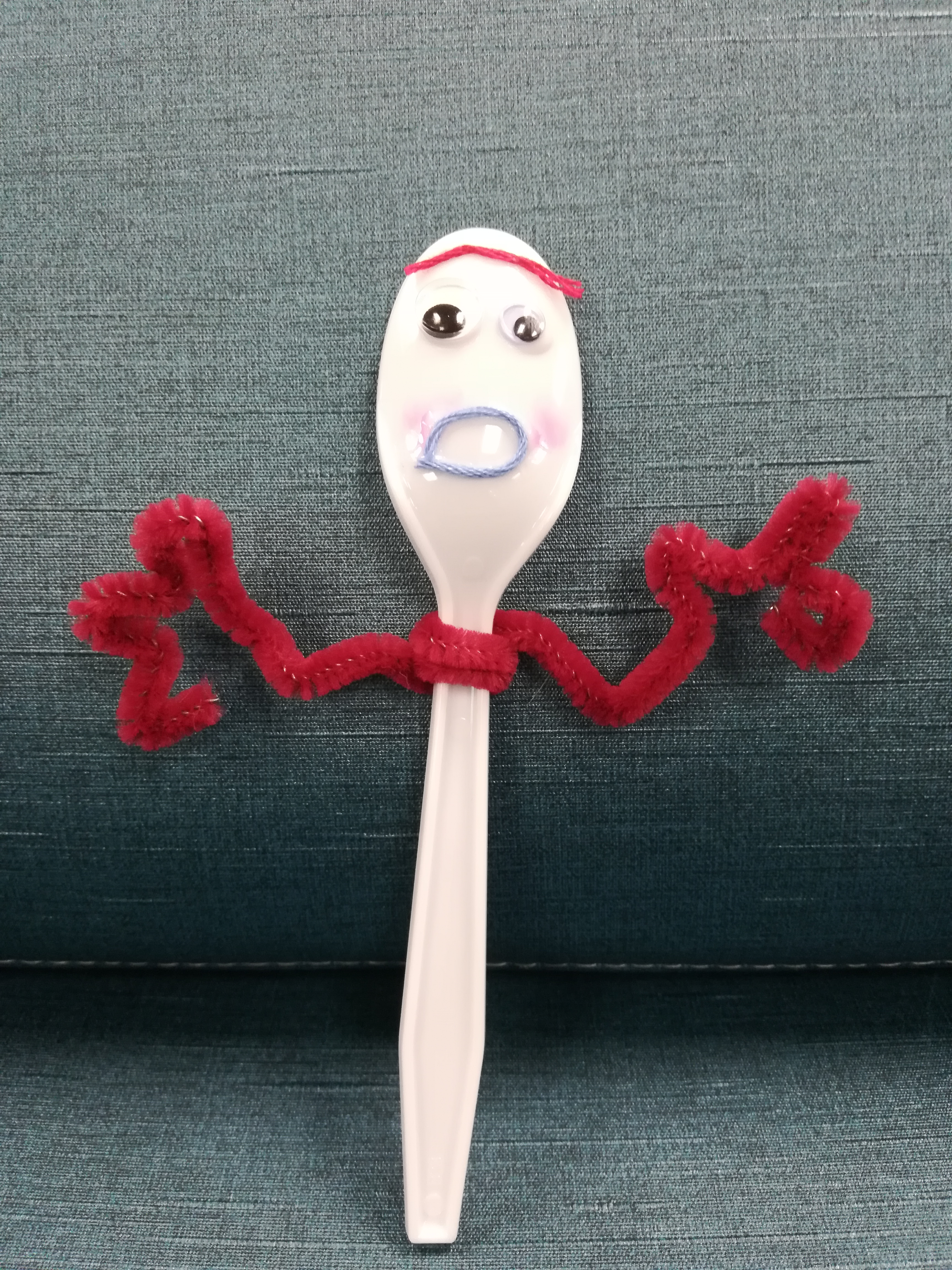 a spoon puppet