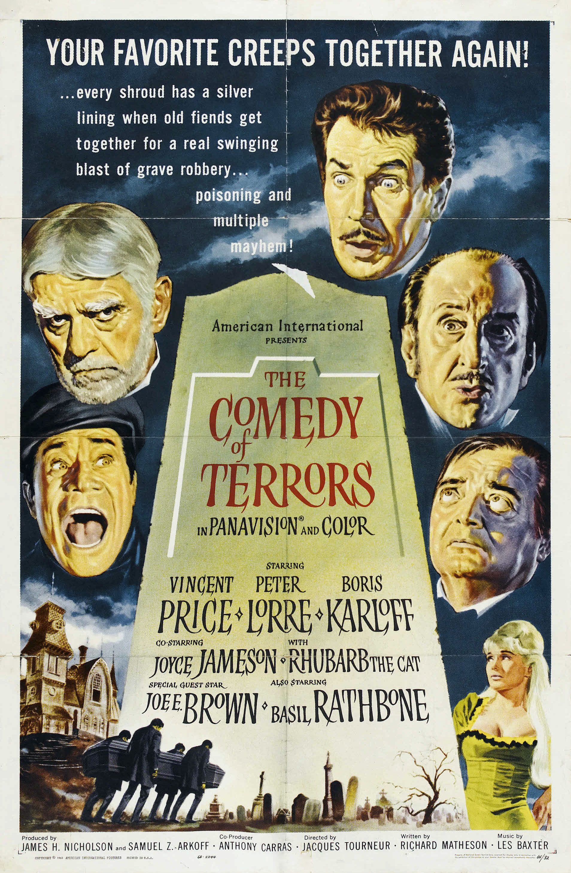 The Comedy of Terrors Movie Poster