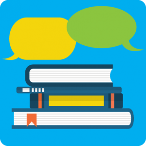 books & chat icons
