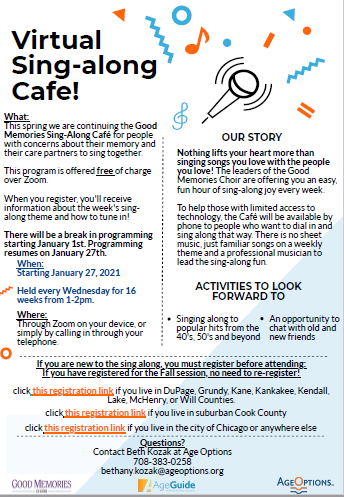 irtual Sing Along Cafe flyer