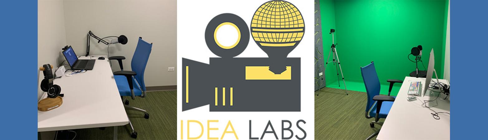 IDEA Lab logo and rooms