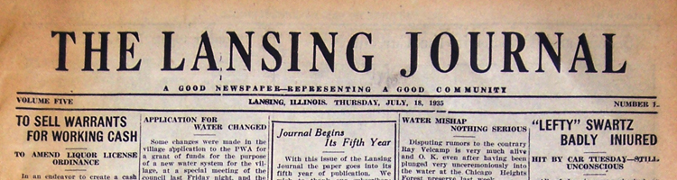 Lansing Journal Newspaper (historical issues)