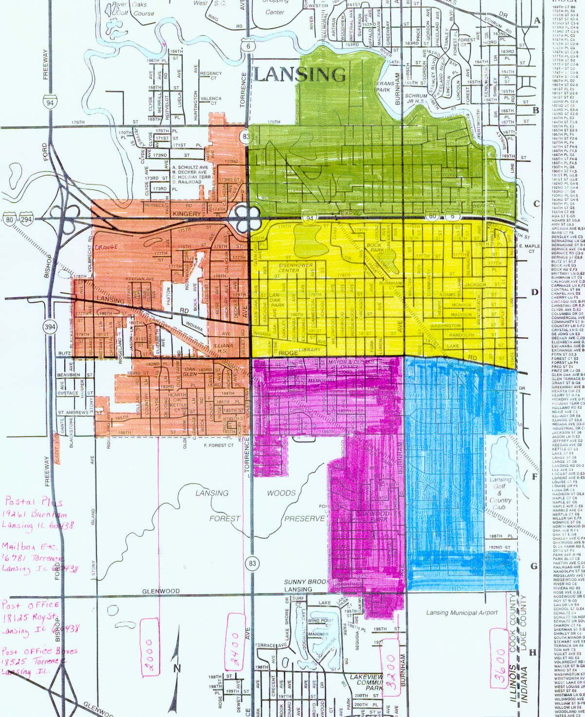 Lansing Map for Residency